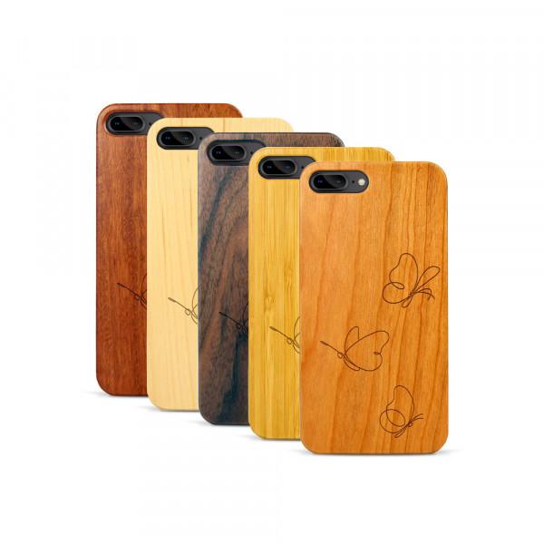 iPhone 7 & 8 Plus Hülle Butterflies aus Holz