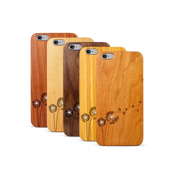 iPhone 6 & 6S Plus Hülle Pusteblume Swarovski® Kristalle aus Holz