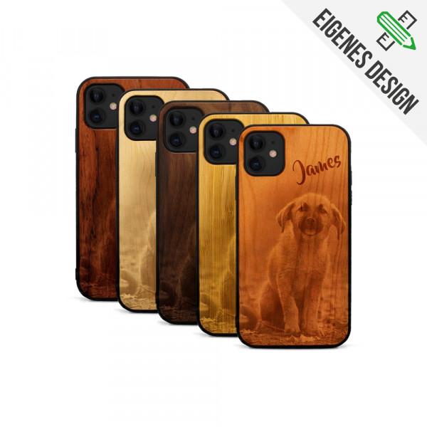 iPhone 11 Hülle aus Holz selber gestalten mit individueller Gravur
