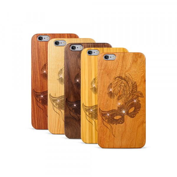 iPhone 6 & 6S Plus Hülle Maskenball Swarovski® Kristalle aus Holz