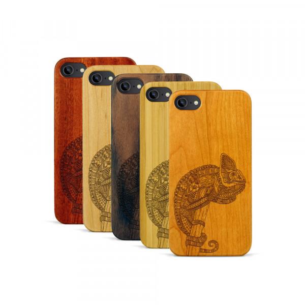 iPhone 7 Hülle Chamäleon aus Holz