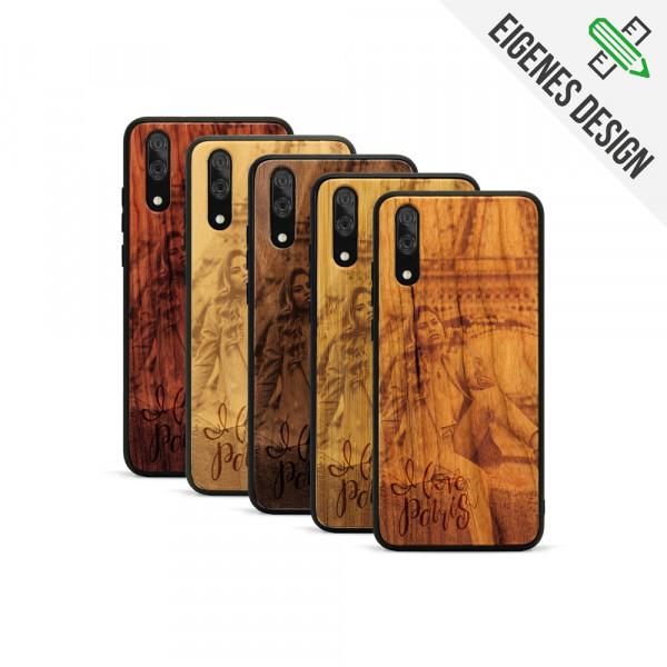 P20 Hülle aus Holz selber gestalten mit individueller Gravur