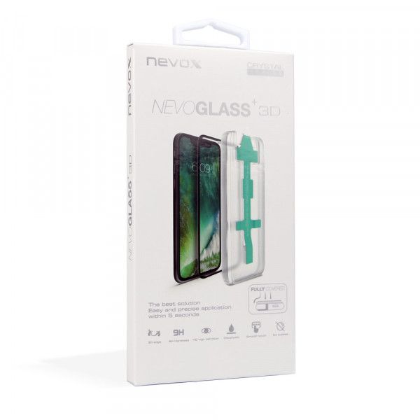Nevox NEVOGLASS 3D iPhone X & XS Curved Glass mit Easy App