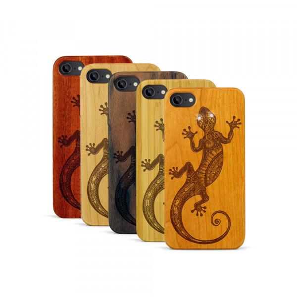 iPhone 7 Hülle Gecko Swarovski® Kristalle aus Holz