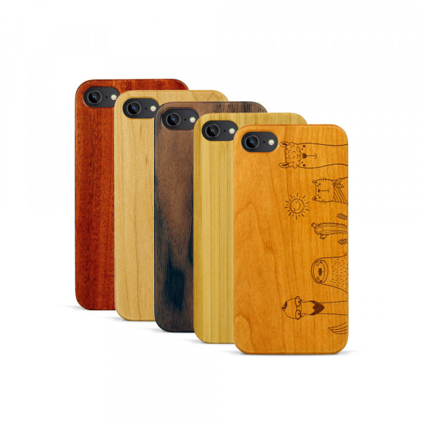 iPhone 7 Hülle Animal Friends aus Holz