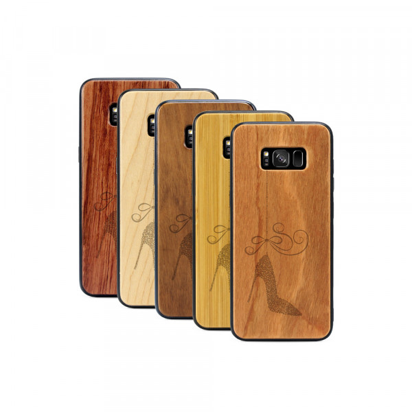 Galaxy S8 Hülle Hanging Stiletto aus Holz