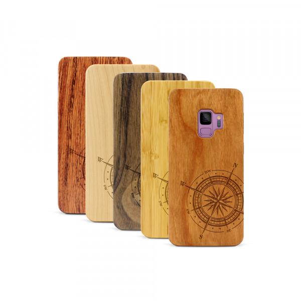 Galaxy S9 Hülle Kompass aus Holz