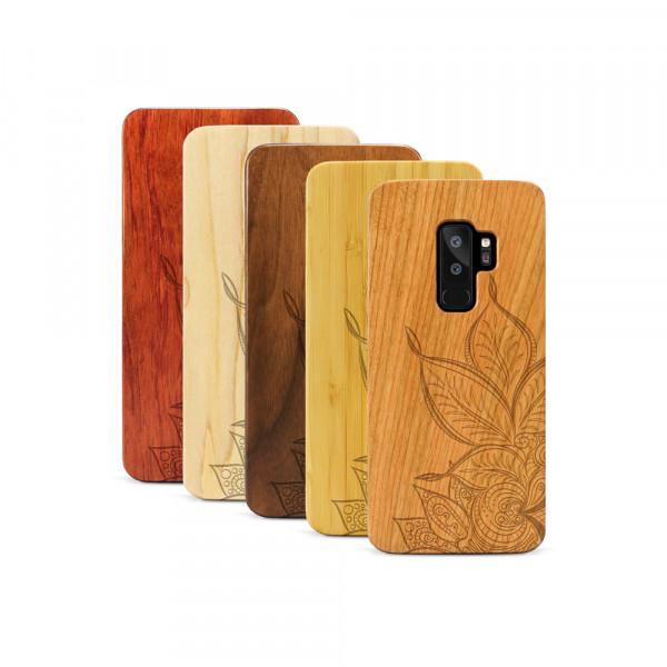Galaxy S9+ Hülle Mandala aus Holz