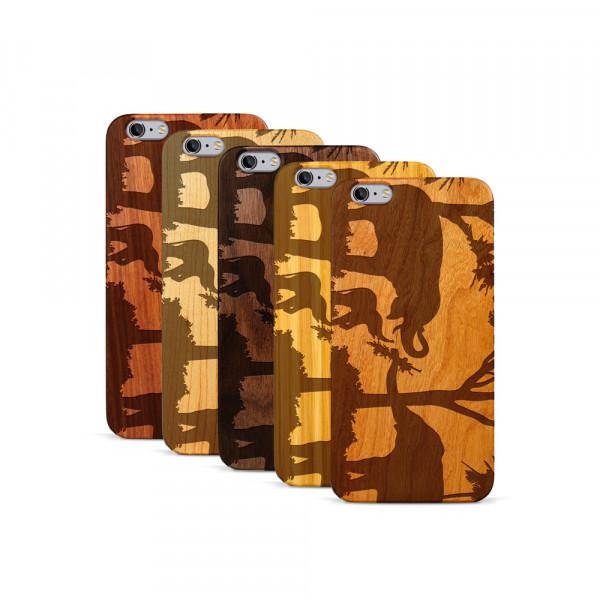 iPhone 6 & 6S Plus Hülle Wildlife Elefantenfamilie aus Holz
