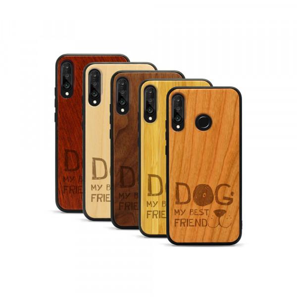 P30 lite Hülle Dog best friend aus Holz