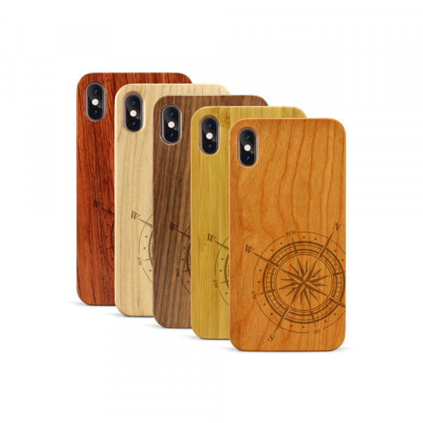 iPhone XS Max Hülle Kompass aus Holz