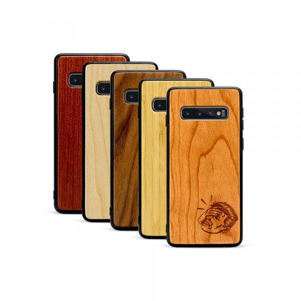 Galaxy S10 Hülle Ouch aus Holz