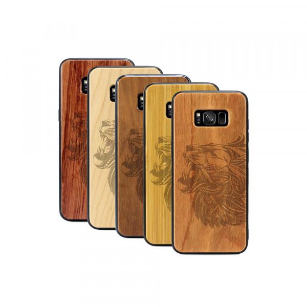 Galaxy S8+ Hülle Löwenkopf aus Holz