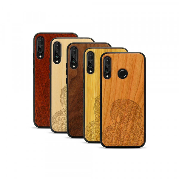 P30 lite Hülle Papagei aus Holz