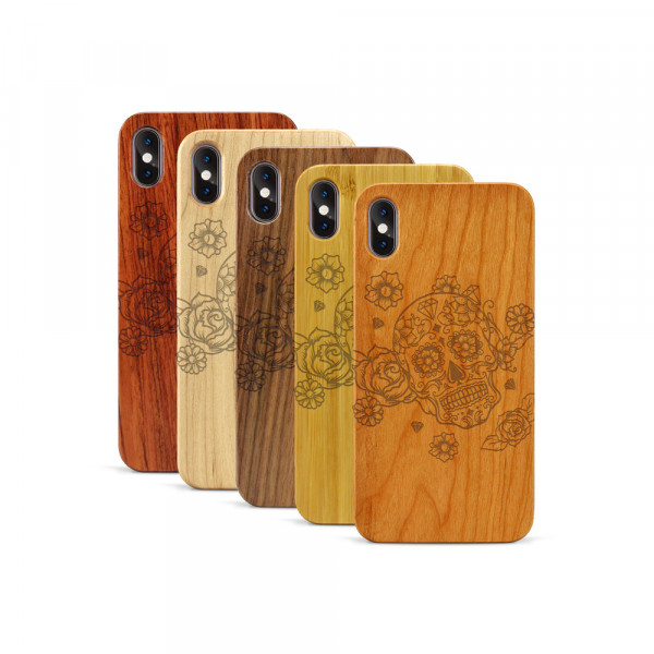 iPhone XS Max Hülle Flower Totem aus Holz