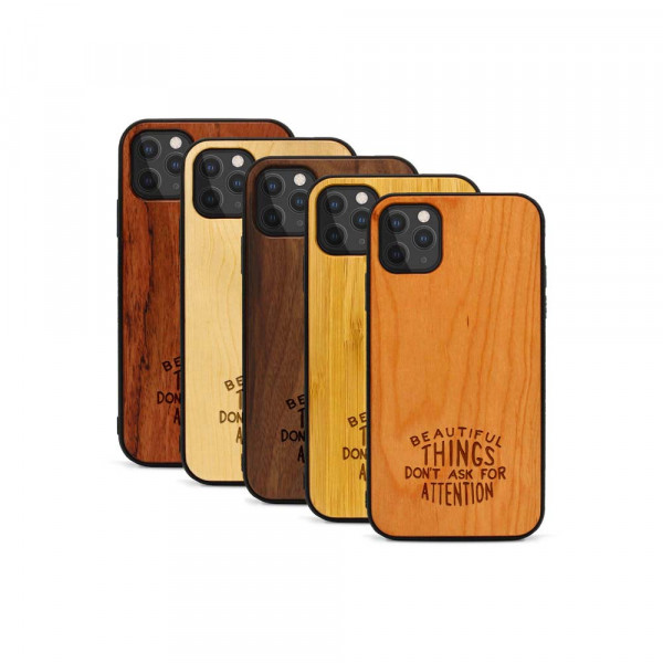iPhone 11 Pro Hülle Don't ask for Attention aus Holz