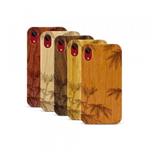 iPhone XR Hülle Hanfpflanze aus Holz