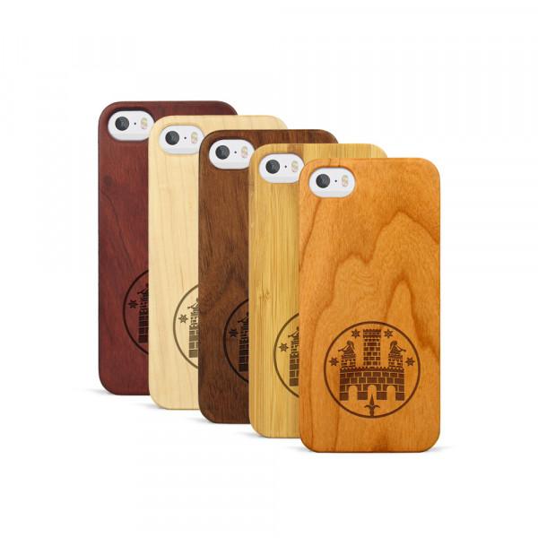 iPhone 5, 5S & SE Hülle Freiburger Wasserschlössle aus Holz