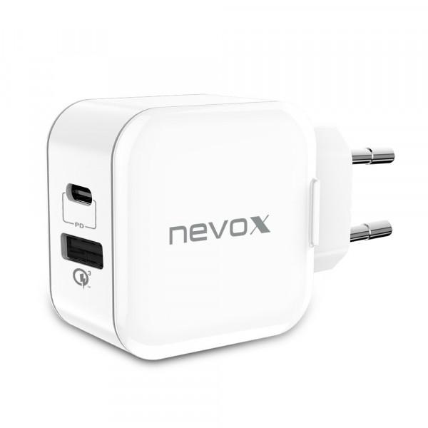 Nevox USB Netzteil PD Type C + QC3.0 20W Ladegerät Ladeadapter
