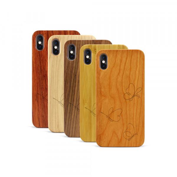 iPhone XS Max Hülle Butterflies aus Holz