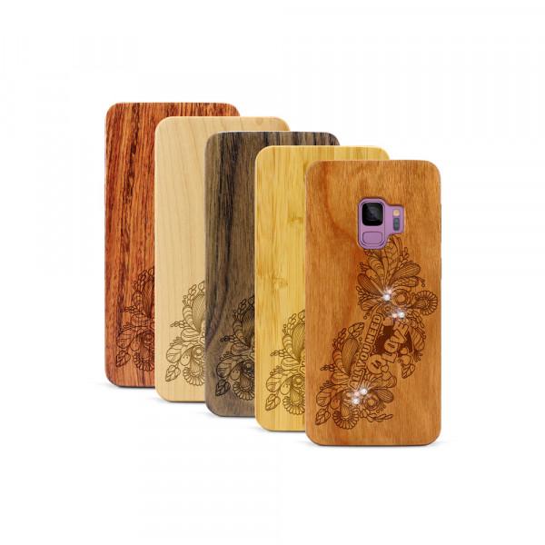 Galaxy S9 Hülle All you need Swarovski® Kristalle aus Holz