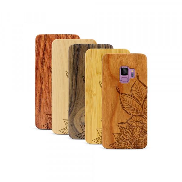 Galaxy S9 Hülle Mandala aus Holz