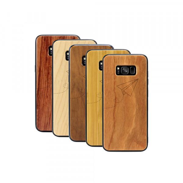 Galaxy S8+ Hülle Paper Plane aus Holz