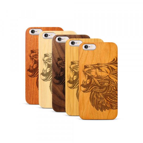 iPhone 6 & 6S Hülle Löwenkopf aus Holz