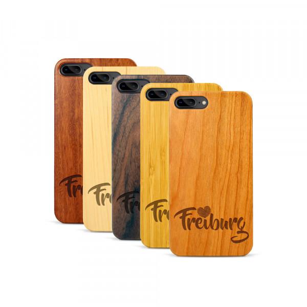 iPhone 7 & 8 Plus Hülle Love Freiburg aus Holz