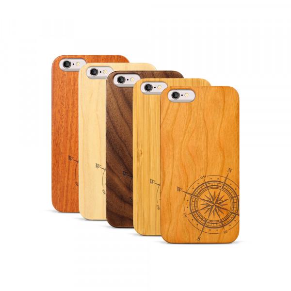 iPhone 6 & 6S Hülle Kompass aus Holz