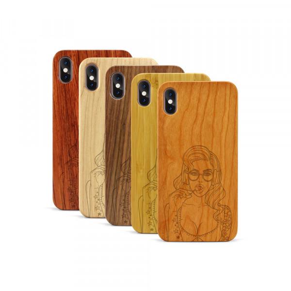 iPhone XS Max Hülle Lolli Pop Art aus Holz