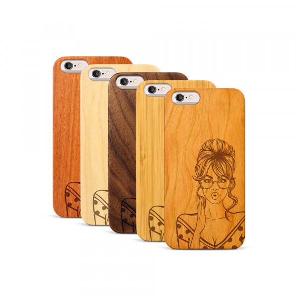 iPhone 6 & 6S Hülle Pop Art - Surprised aus Holz