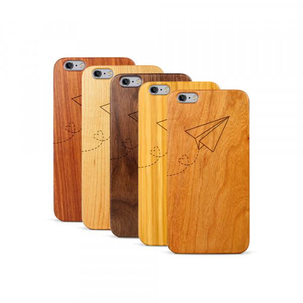 iPhone 6 & 6S Plus Hülle Paper Plane aus Holz