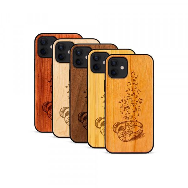 iPhone 12 Mini Hülle Headphones aus Holz