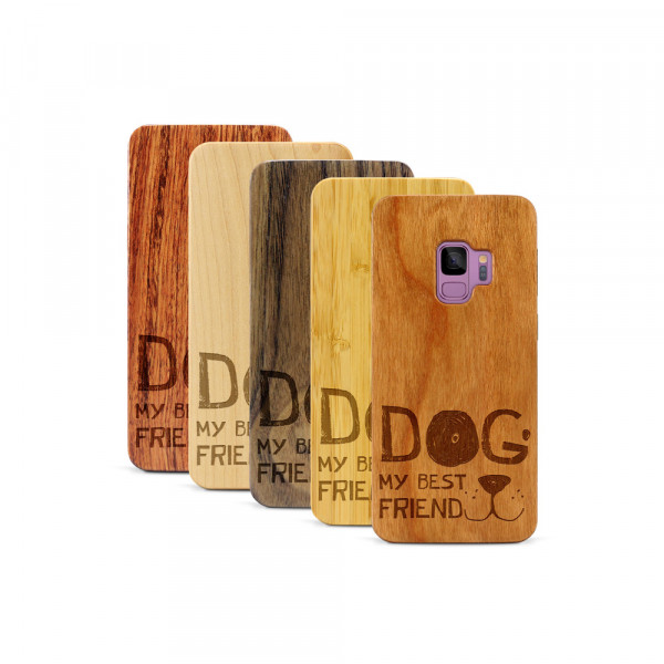 Galaxy S9 Hülle Dog best friend aus Holz