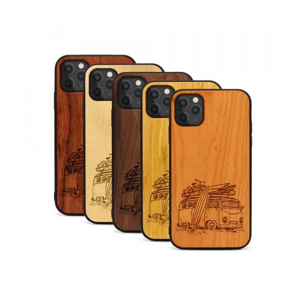 iPhone 11 Pro Max Hülle Camper Van aus Holz