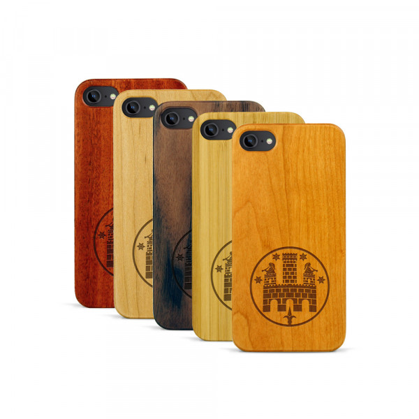 iPhone 7 Hülle Freiburger Wasserschlössle aus Holz