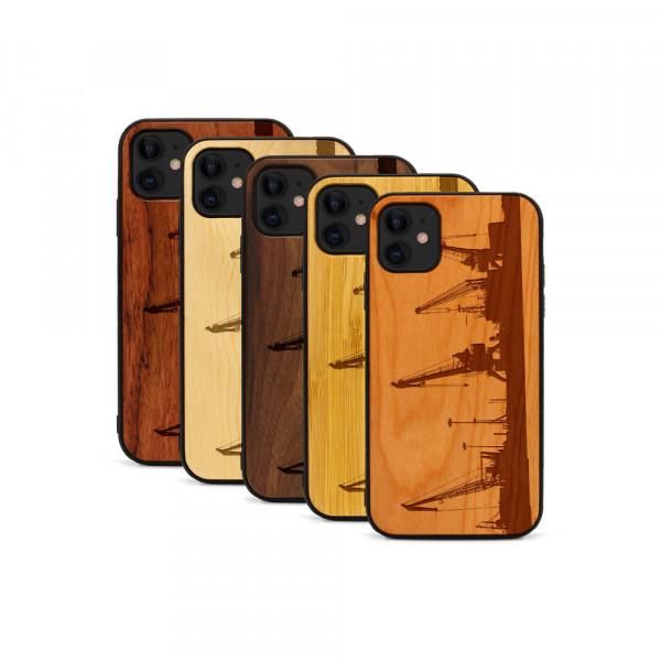 iPhone 11 Hülle Industriedesign Kran aus Holz