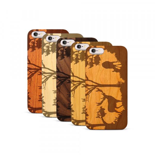 iPhone 6 & 6S Hülle Wildlife Hirsch aus Holz