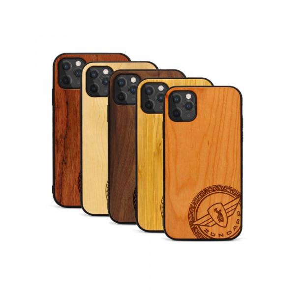 iPhone 11 Pro Max Hülle Zündapp Logo Klassik aus Holz