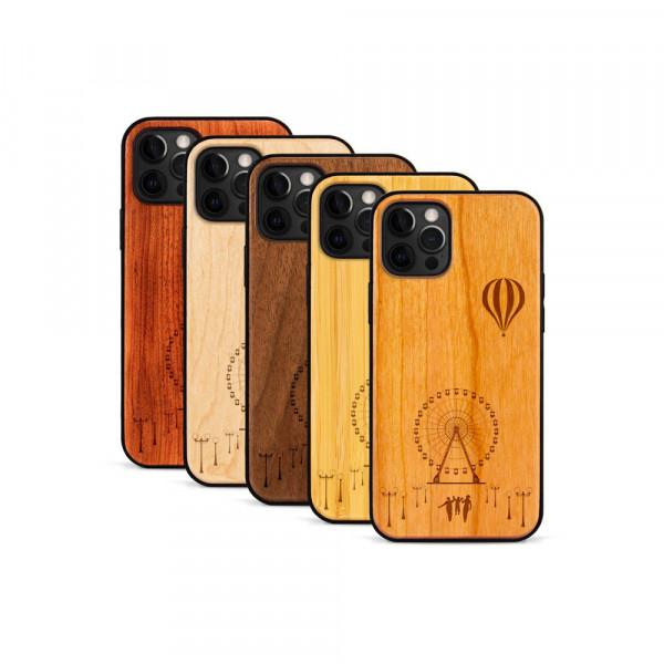 iPhone 12 Pro Max Hülle Jahrmarkt aus Holz