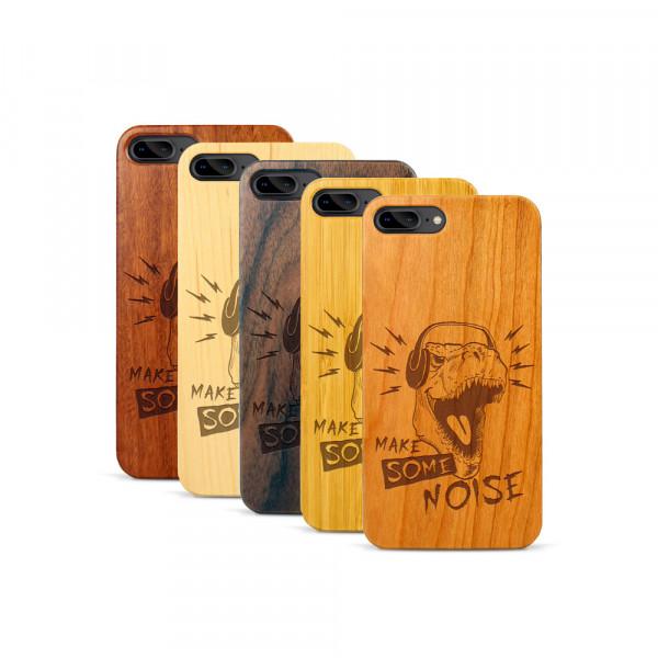 iPhone 7 & 8 Plus Hülle T-Rex aus Holz