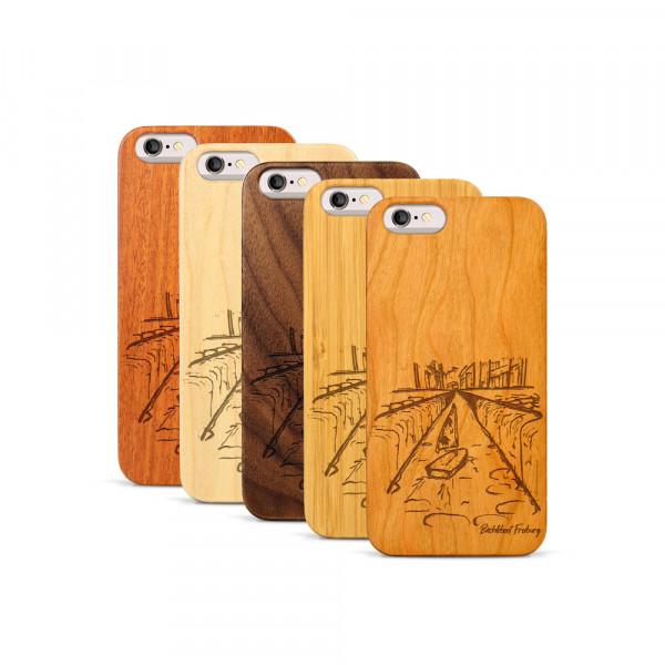 iPhone 6 & 6S Hülle Freiburg Bächleboot aus Holz