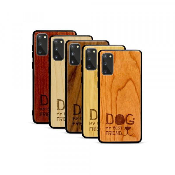Galaxy S20 Hülle Dog best friend aus Holz