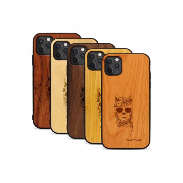 iPhone 11 Pro Hülle Llama aus Holz