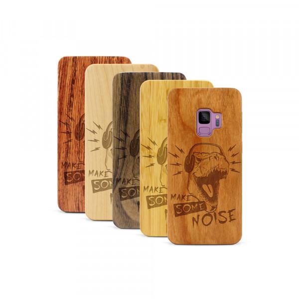 Galaxy S9 Hülle T-Rex aus Holz