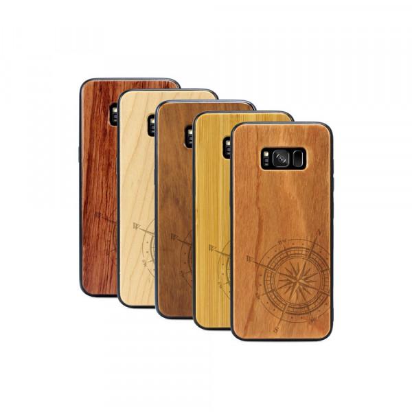 Galaxy S8 Hülle Kompass aus Holz