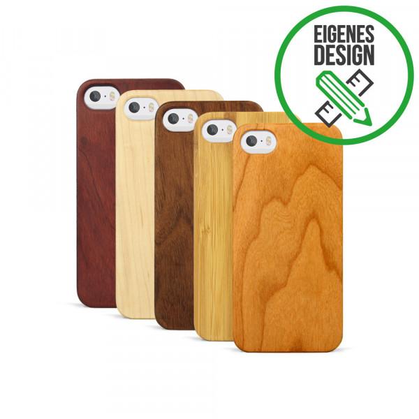 iPhone 5, 5S & SE Hülle aus Holz selber gestalten mit individueller Gravur
