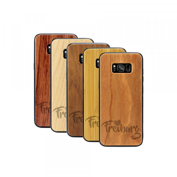 Galaxy S8 Hülle Love Freiburg aus Holz