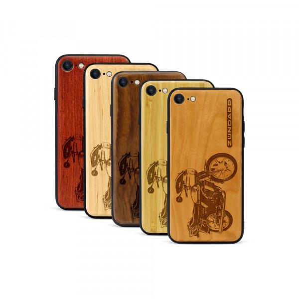 iPhone 8 & SE Hülle Zündapp KS 80 aus Holz